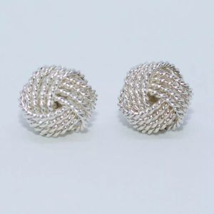 Tiffany & Co silver knotted earrings